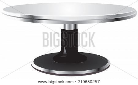 Empty stand for making cakes - turnable steel surface - stand for cakes