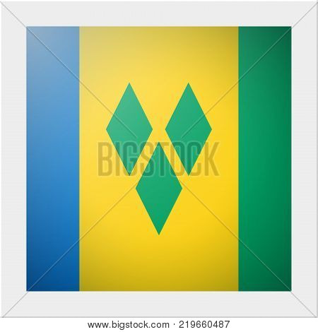 North America continent flag collection with photo of Saint Vincent and the Grenadines flag , vector , illustration