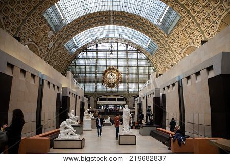 Museum D'orsay In Paris, France