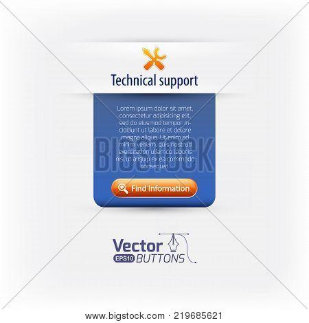 Support web navigation and form vector illustration