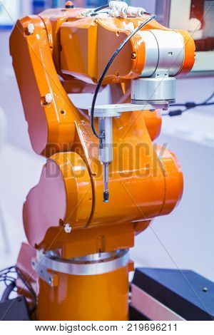 robotic and pneumatic piston sucker unit on industrial machine,automation compressed air factory production