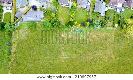 Aerial photo about rural countryside neighborhood