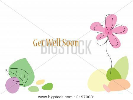 Flower Card with Space