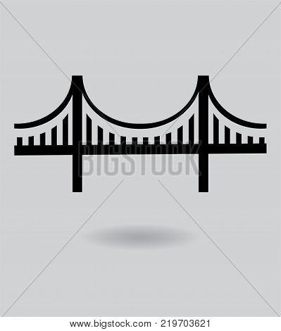 vector illustration of a golden gate bridge icon.