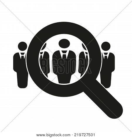 Recruitment icon. Staff selection symbol. Flat design. Stock - Vector illustration
