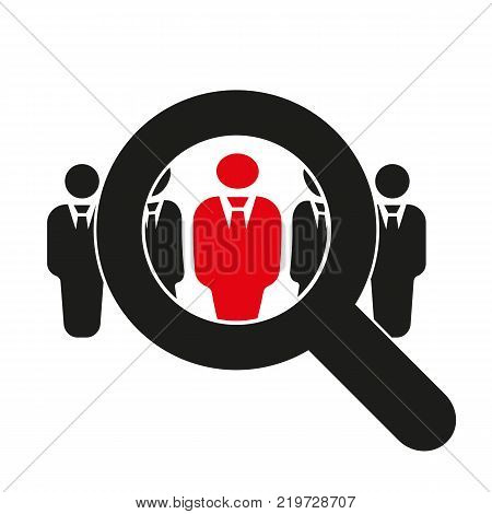 Recruitment icon. Staff selection symbol. Flat design. Stock - Vector illustration