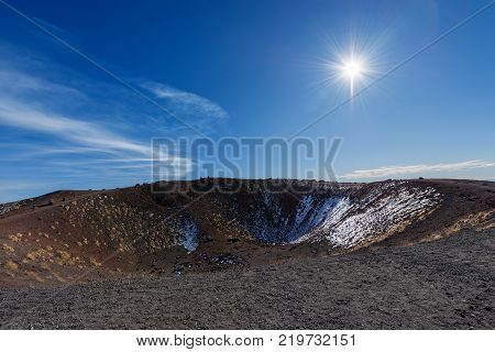 Silvestri craters (eruption of the year 1892) mount Etna Volcano in Sicily island Catania Italy (Sicilia Italia)