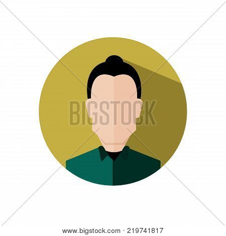 Neat Hair Business Woman Circular Icon Vector Illustration Graphic Design