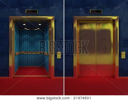 Open And Closed Elevator