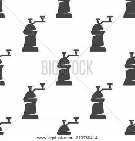 Coffe mill seamless pattern. Vector illustration for backgrounds