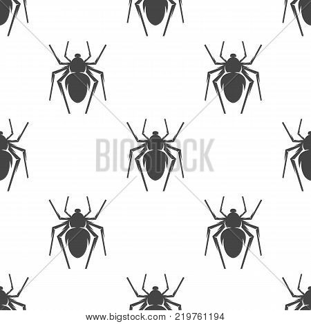 Spider seamless pattern. Vector illustration for backgrounds