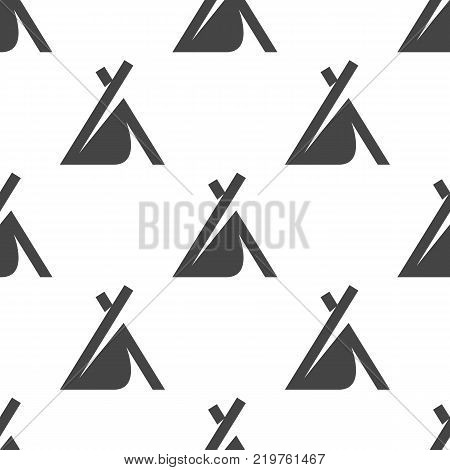 Wigwam seamless pattern. Camping vector illustration for backgrounds