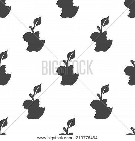 Bitten apple seamless pattern. Vector illustration for backgrounds