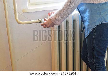 Adjusting temperature on an heavy duty radiator