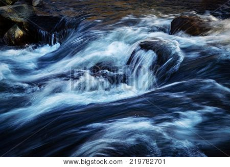 nature seasonal background or texture winter river rapids