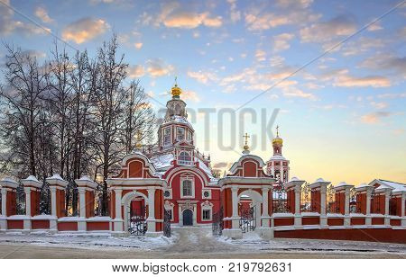 The Church of John the Warrior on Yakimanka street. Russia, Moscow