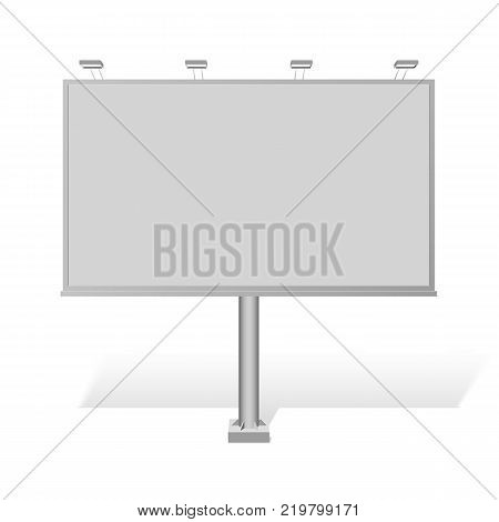 Advertising construction for outdoor advertising mid billboard. Vector billboard for your design.