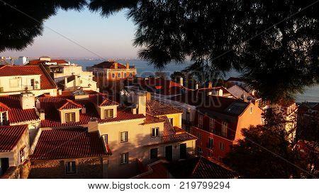 Vista de Lisboa pelo Castelo de São Jorge
