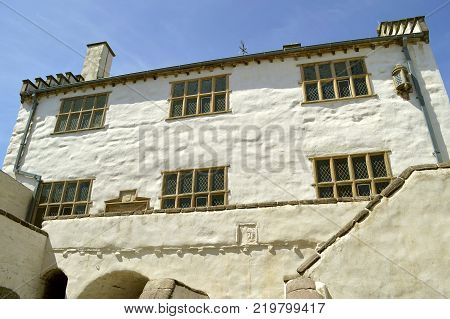 Conwy Wales United Kingdom - June 22 2014 : The historical Plas Mawr in Conwy North Wales