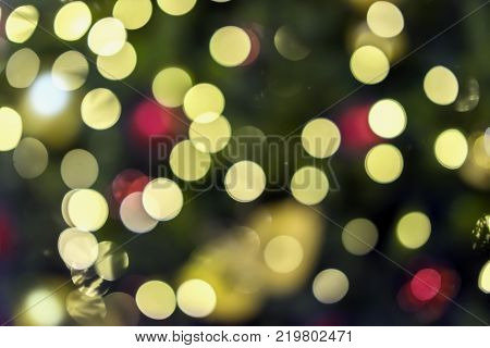 Abstract colorful bokeh design, holiday background, multicolored rainbow effect. All festive occasions concept