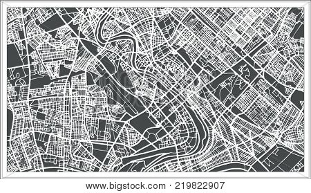 Baghdad Iraq City Map in Retro Style. Outline Map.