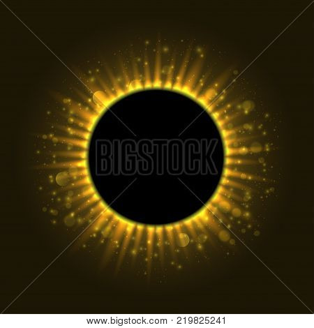 Total Eclipse of the sun. Vector illustration