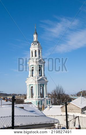 Church of the Resurrection and Church bell tower in Kostroma