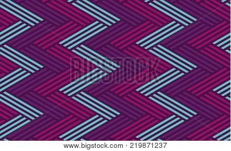 Concept zig-zag seamless geometry pattern. Seamless Italian style geometric motif for header, poster, background, fabric.