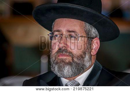 EILAT, ISRAEL. December 21, 2017. David Baruch Lau, the Ashkenazi Chief Rabbi of Israel, the main religious leader.