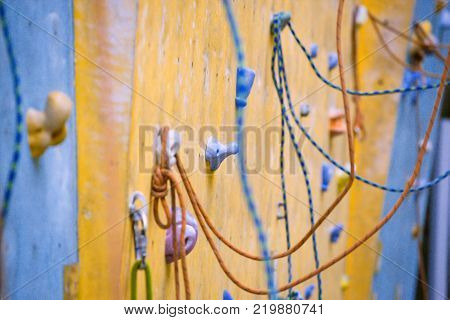 bouldering climbing wall close up a  a