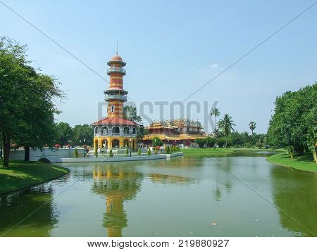 Bang Pa In Royal Palace at AyutthayaThailand.