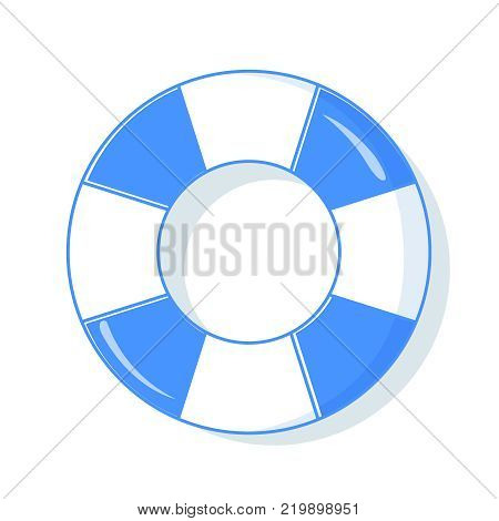 b7ac82f6248a Colorful swim rings icon set isolated on white background. Vector  illustration. Top view of