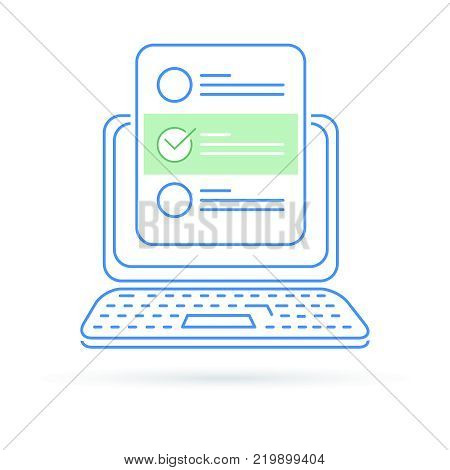 SEO optimization illustration concept, browser window and ranking sites in search results of web search engine, first place in the SERP. Search engine optimization illustration in flat design.