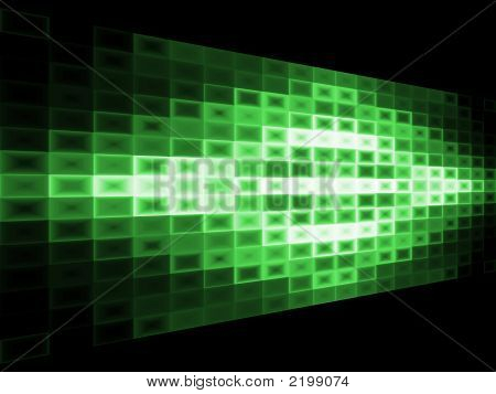Abstract Green Background With Light Effect