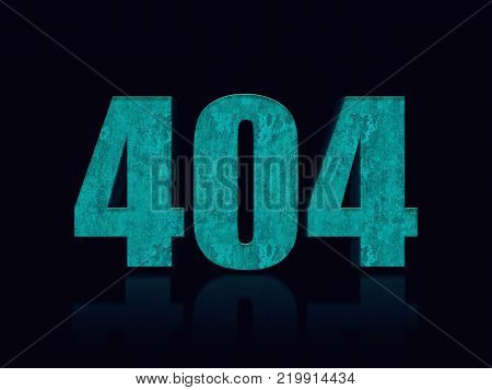 404 3D text. 404 error concept. Page not found. Illustration stock.