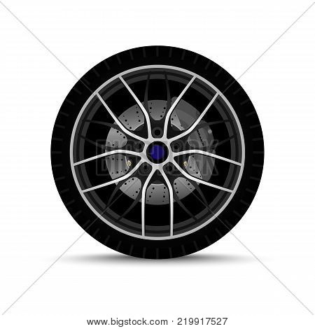 alloy realistic cars wheel. sports tires. brake