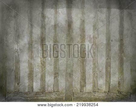 Abstract vintage background with old paper with vertical blurred stripes pale greenish hue.