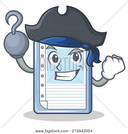 Pirate clipboard character cartoon style vector illustration