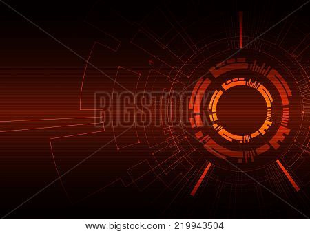 Abstract colored technological background with various technological elements. Structure pattern technology backdrop. Vector