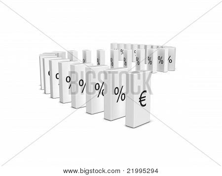 Euro Currency Crash. Domino Effect