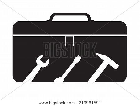 tools box icon on white background. tools box sign. flat style. toolbox symbol.