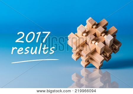 2017 results. Year review concept. Time to summarize and plan goals for the next year..