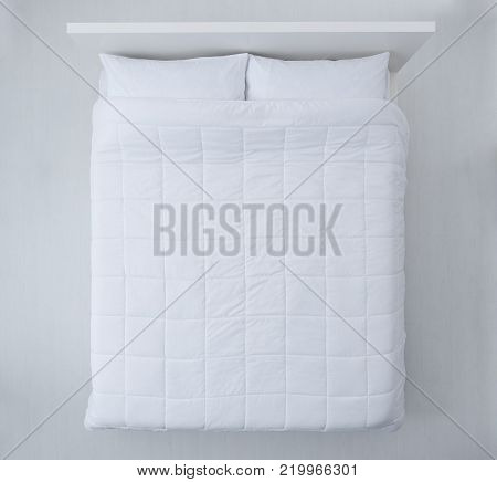 Elegant Bed Top View