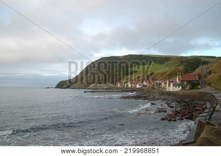 Traditional fishing village of Crovie, in Scotland