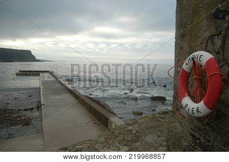 Crovie Harbour on North-East Coast of Scotland