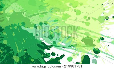Wide format floral grunge background. Vector EPS10 without gradient with transparency. Place for text. Nature ecology theme. Background for presentation. Digitally wallpaper. 16 : 9