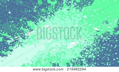 Wide format abstract grunge background. Vector without gradient. Place for text. Paint splashes theme. Background for presentation, business card. Full HD 4K grunge wallpaper