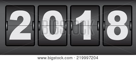 Digital Signage Web counter with the date of the new year 2018.