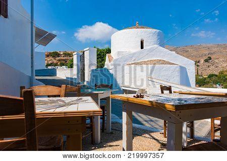 Greek orthodox church in Lindos (Rhodes, Greece)