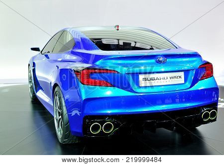 FRANKFURT - SEPTEMBER 21: car shown at the 65th Internationale Automobil Ausstellung (IAA) on September 21, 2013 in Frankfurt, Germany.